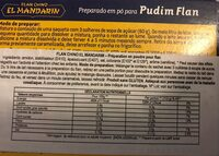 Flan Chino - Nutrition facts