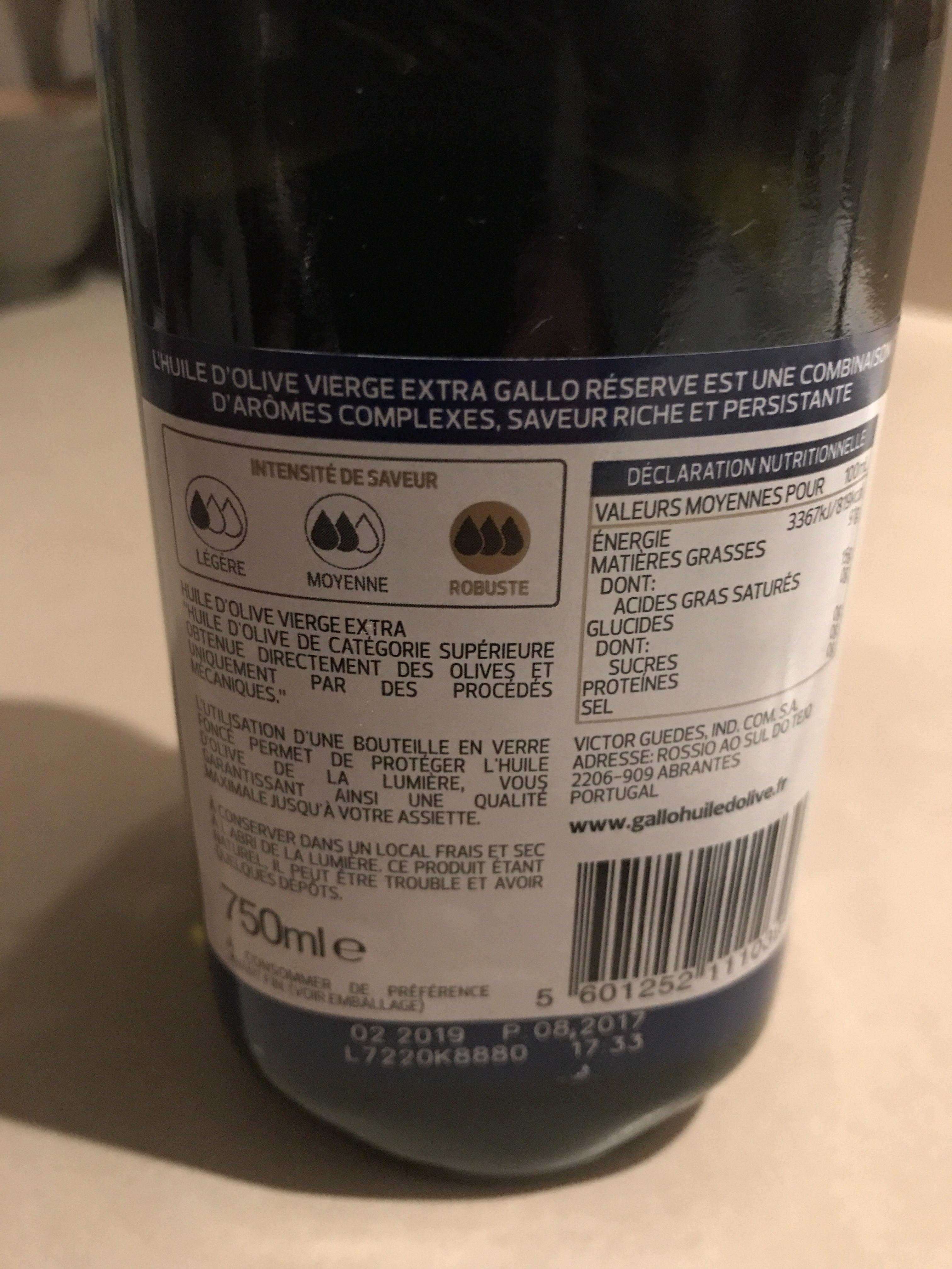 Réserve huile d'olive vierge extra - Ingredients - fr