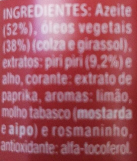 Piri-Piri Extra Forte - Ingredients - fr