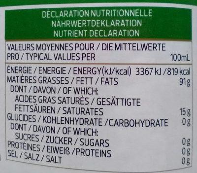 Azeite de Oliva Clàssico - Nutrition facts