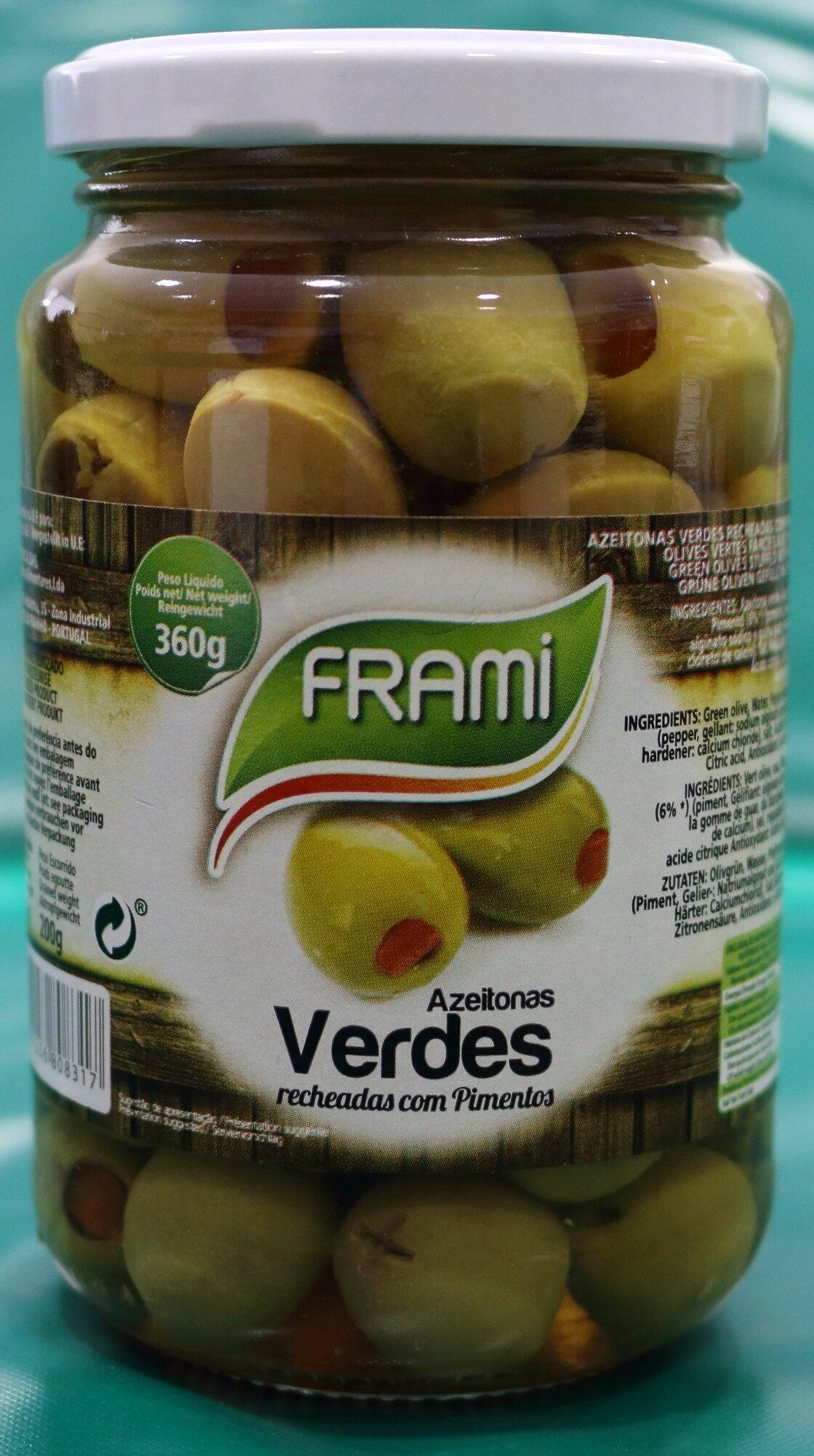 Olives vertes farcies au poivre - Frami, - Product