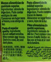 Penne Rigate Milaneza 500 Gr, 5 Paquets - Ingrédients
