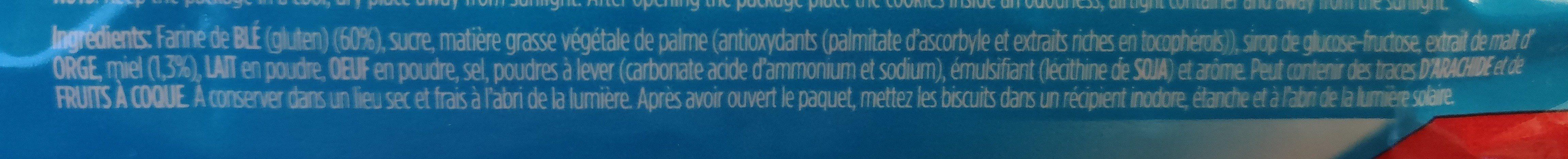 Alfa Biscuit - Ingrediënten - fr