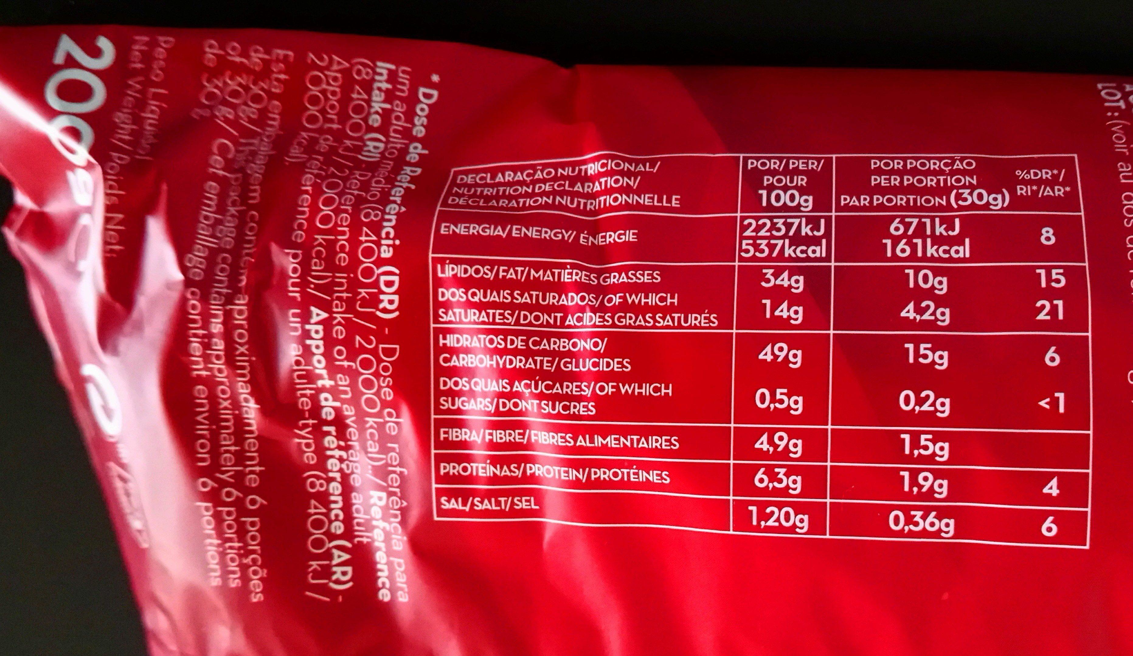 Chips - Voedingswaarden - de
