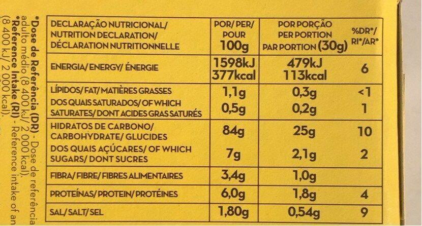 Corn flakes - Nutrition facts - es