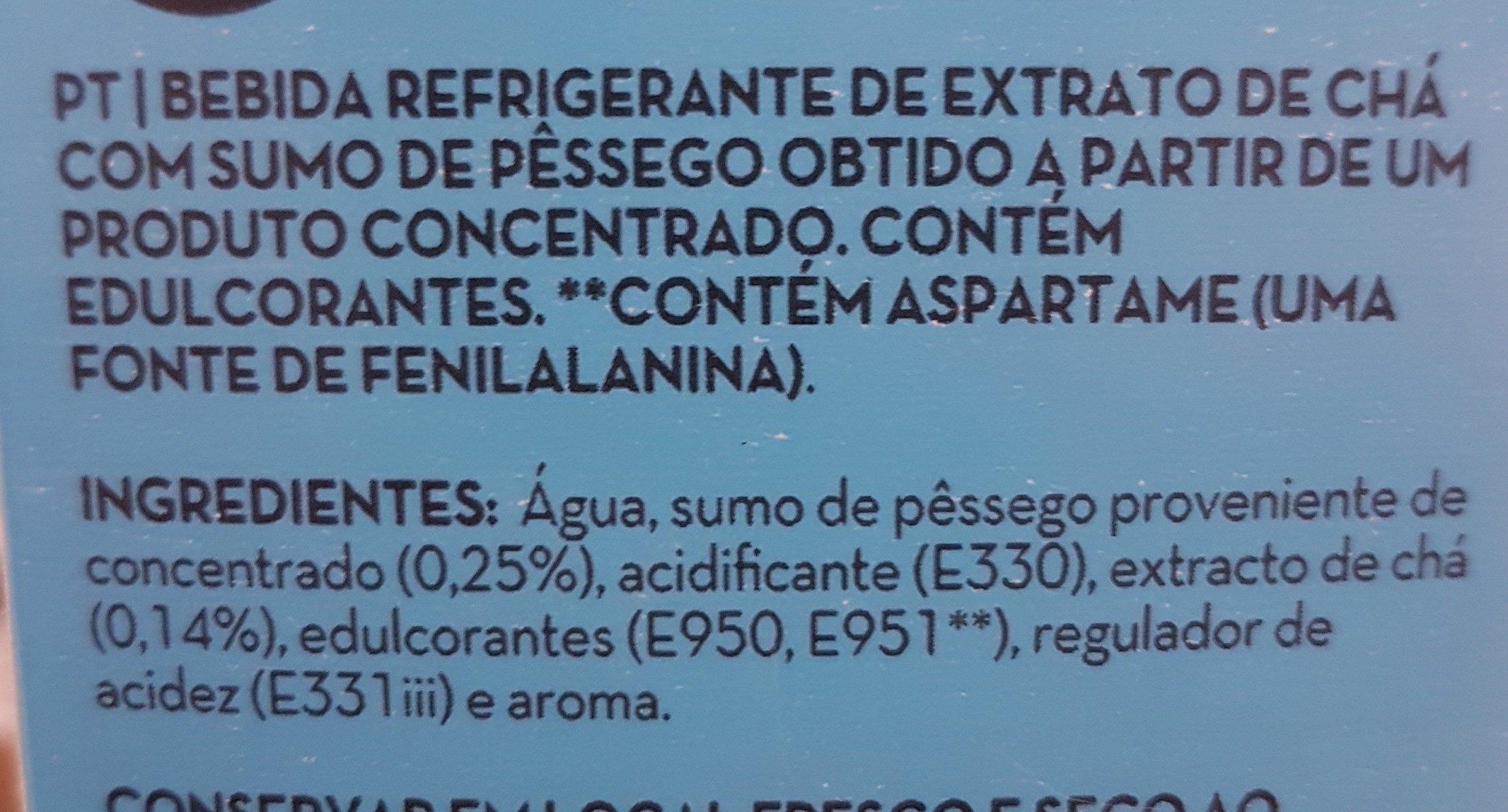ICED TEA PÊSSEGO - Ingrediënten - fr