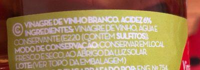 Vinaigre de vin blanc - Ingrediënten - fr