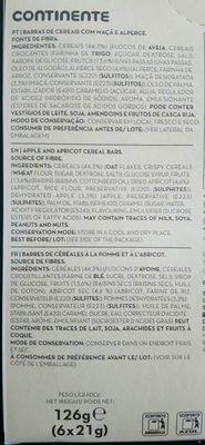 Barre de céréales - Ingrediënten - de