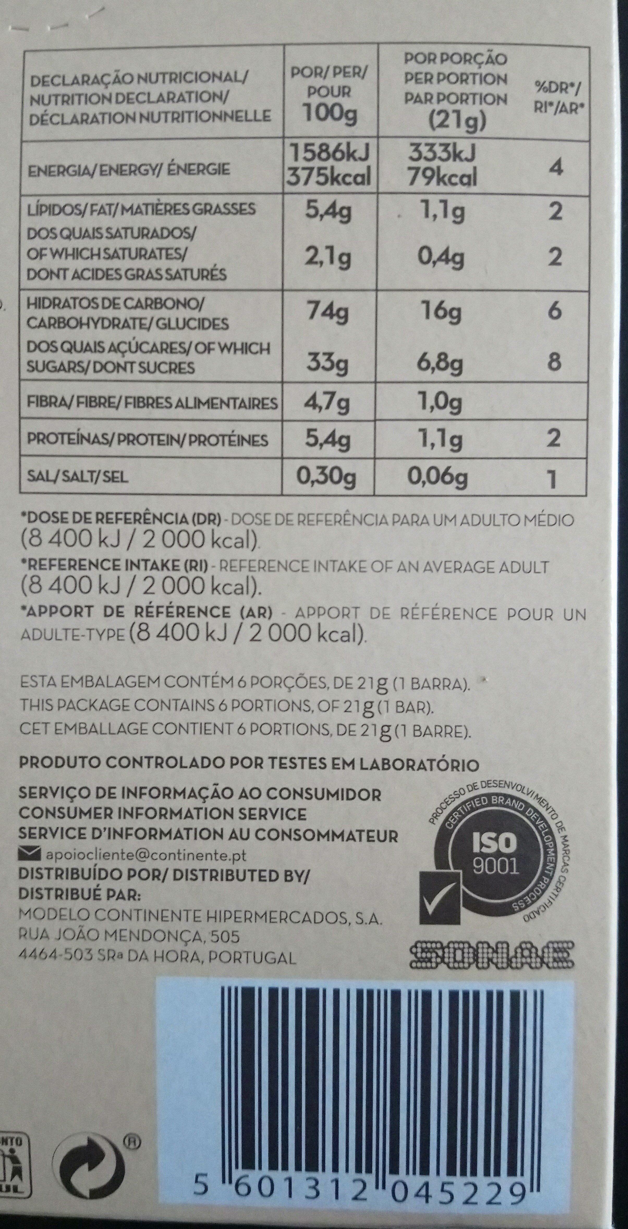 Barre de céréales - Voedingswaarden - de