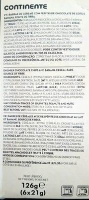 Chocolate de leite e banana - Ingrediënten