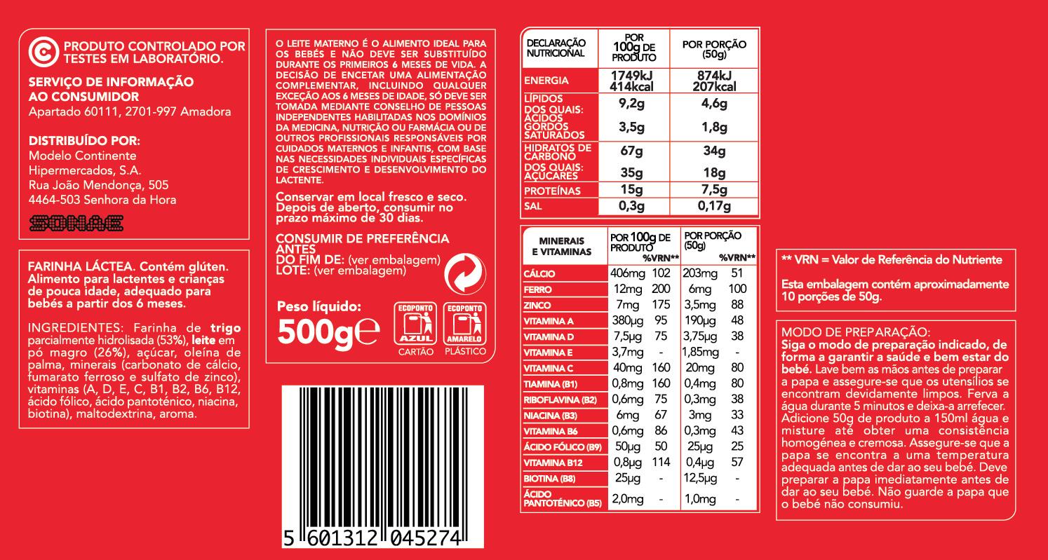 Farinha Láctea - Ingredients