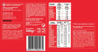 Farinha Láctea - Nutrition facts
