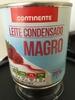 Leite condensado magro - Produit