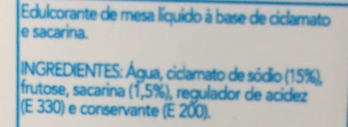Edulcorant liquide - Ingrediënten