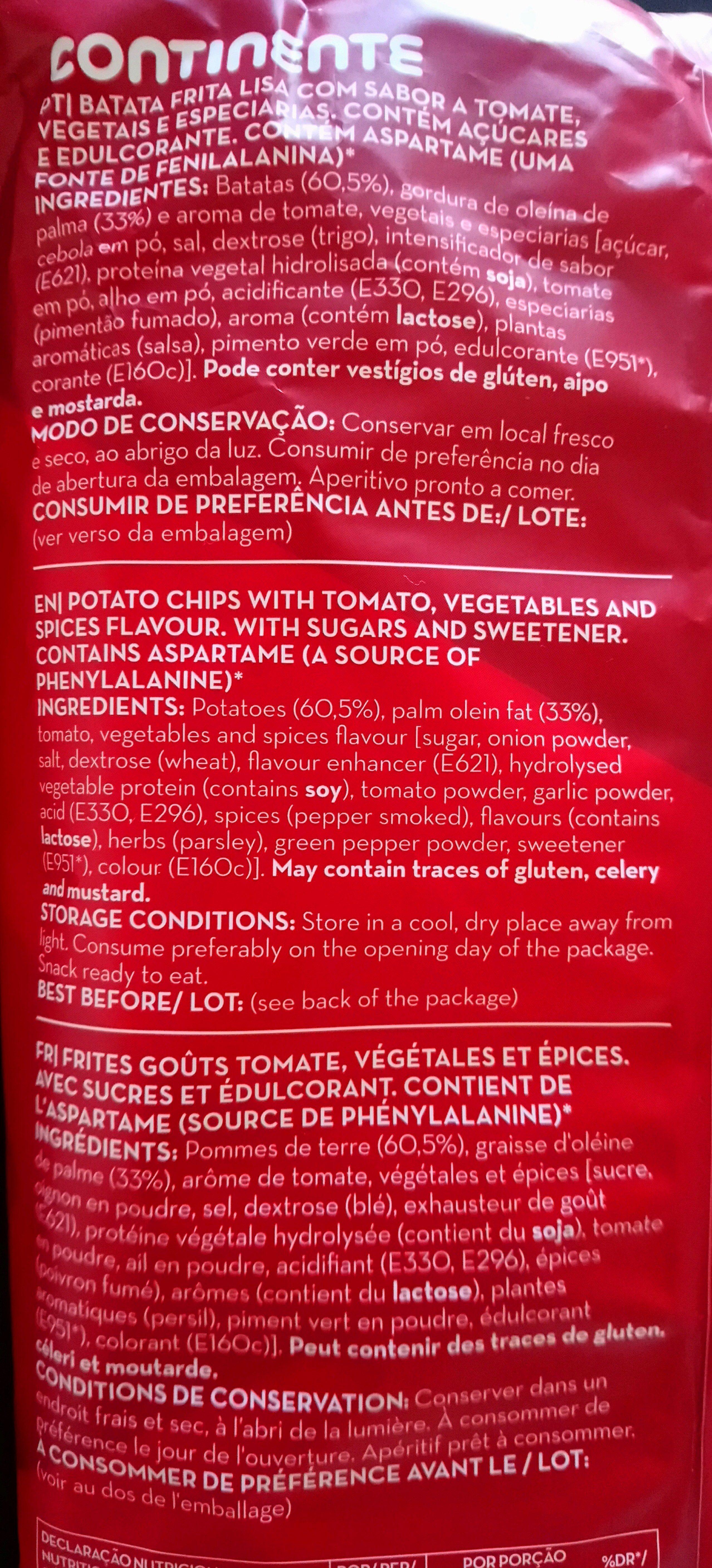 Camponesas - Ingrediënten - de
