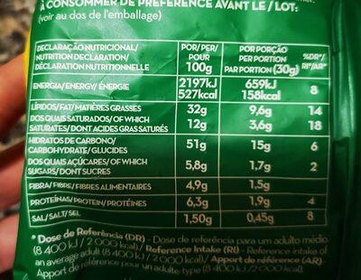 Camponesas - Información nutricional - de