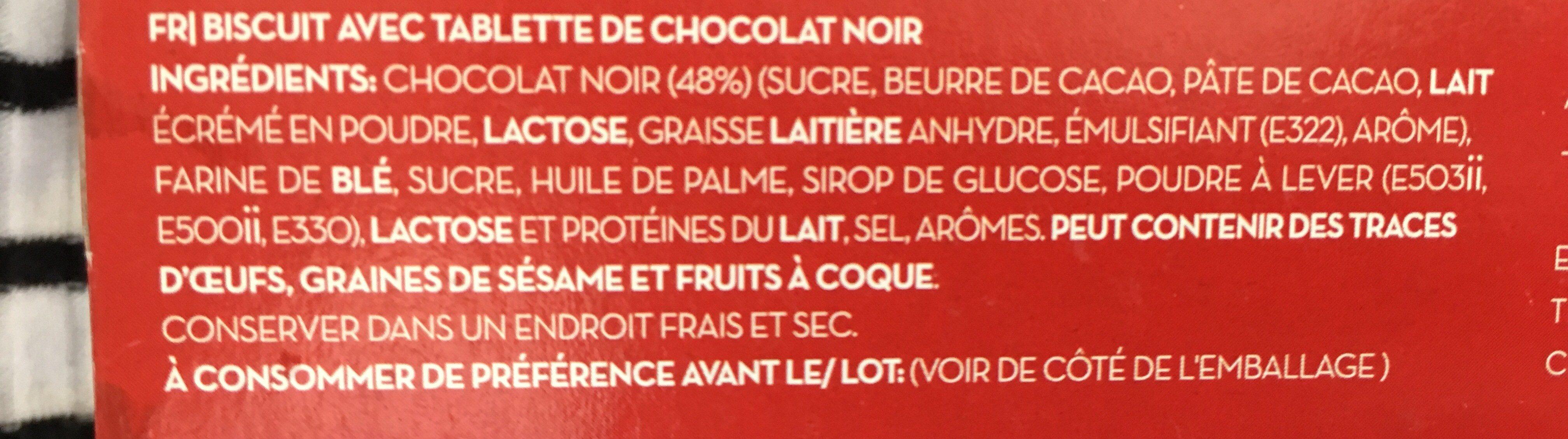 Bolacha coberta com chocolate negro - Ingredients