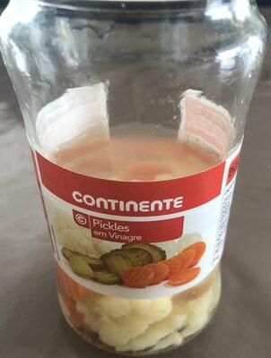Pickles em vinagee - Ingrediënten - fr