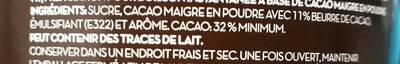 Cacau magro instantâneo - Ingrediënten - fr