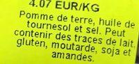 Extra Onduladas - Ingrediënten - fr