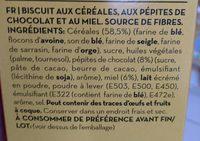 biscuits au miel et pépites de chocolat - Ingrediënten - fr