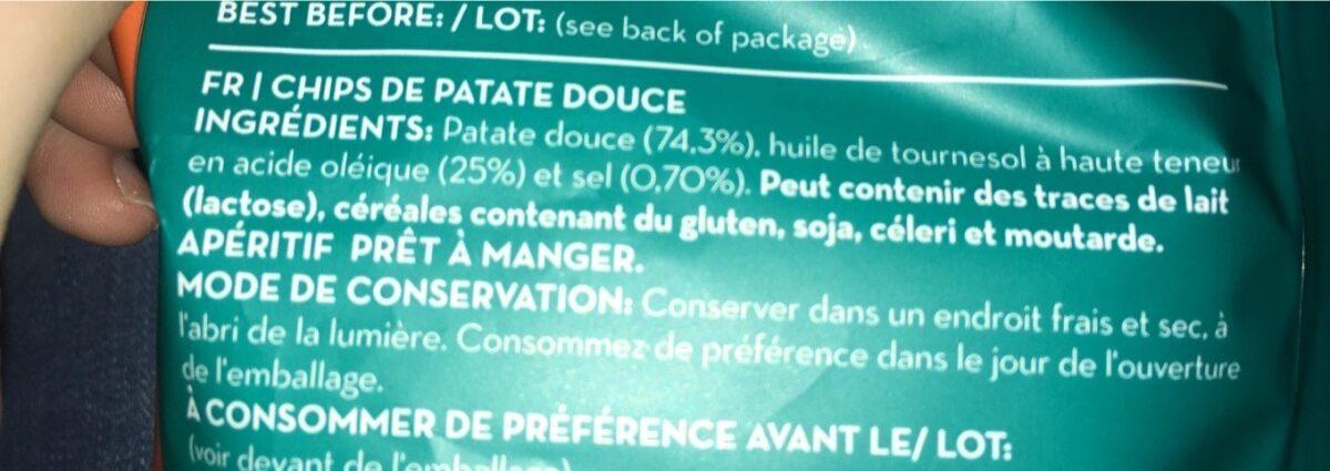 Chips de patate douce - Ingredientes - fr