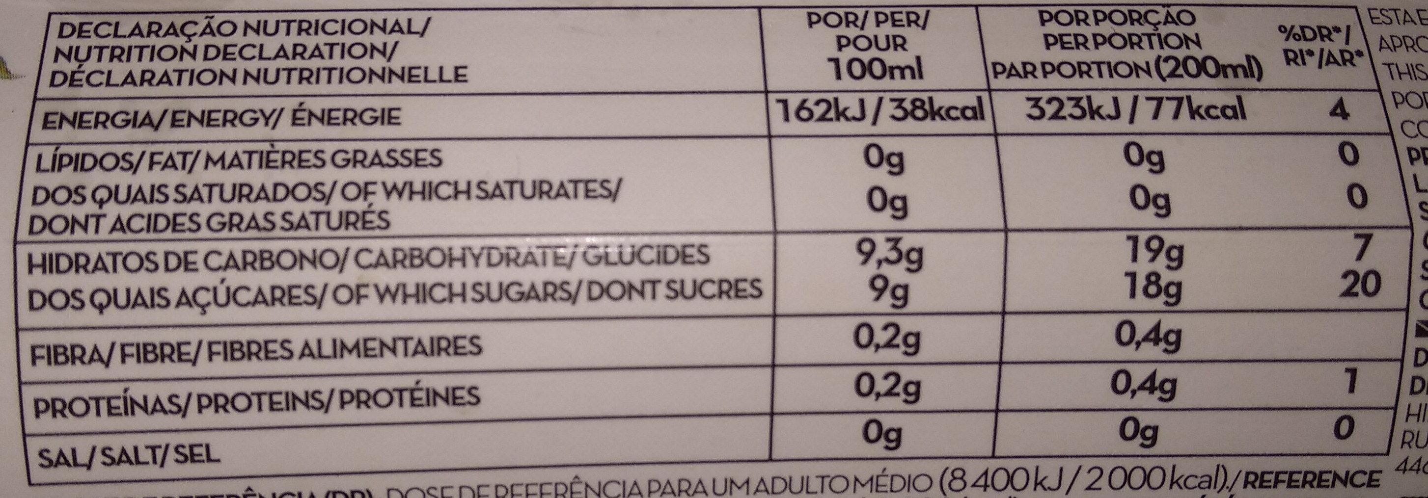 Nectar ananas uva macã e laranja - Voedingswaarden - fr