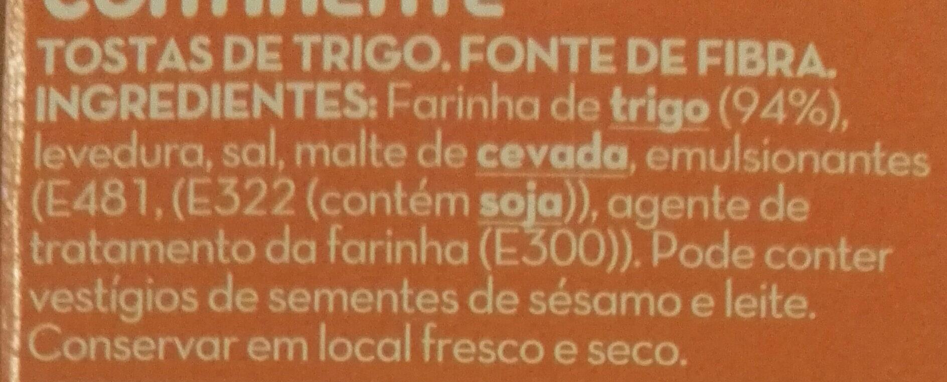 Tostas de trigo extrafinas - Ingrediënten