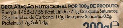 Queijo brie - Informació nutricional - pt