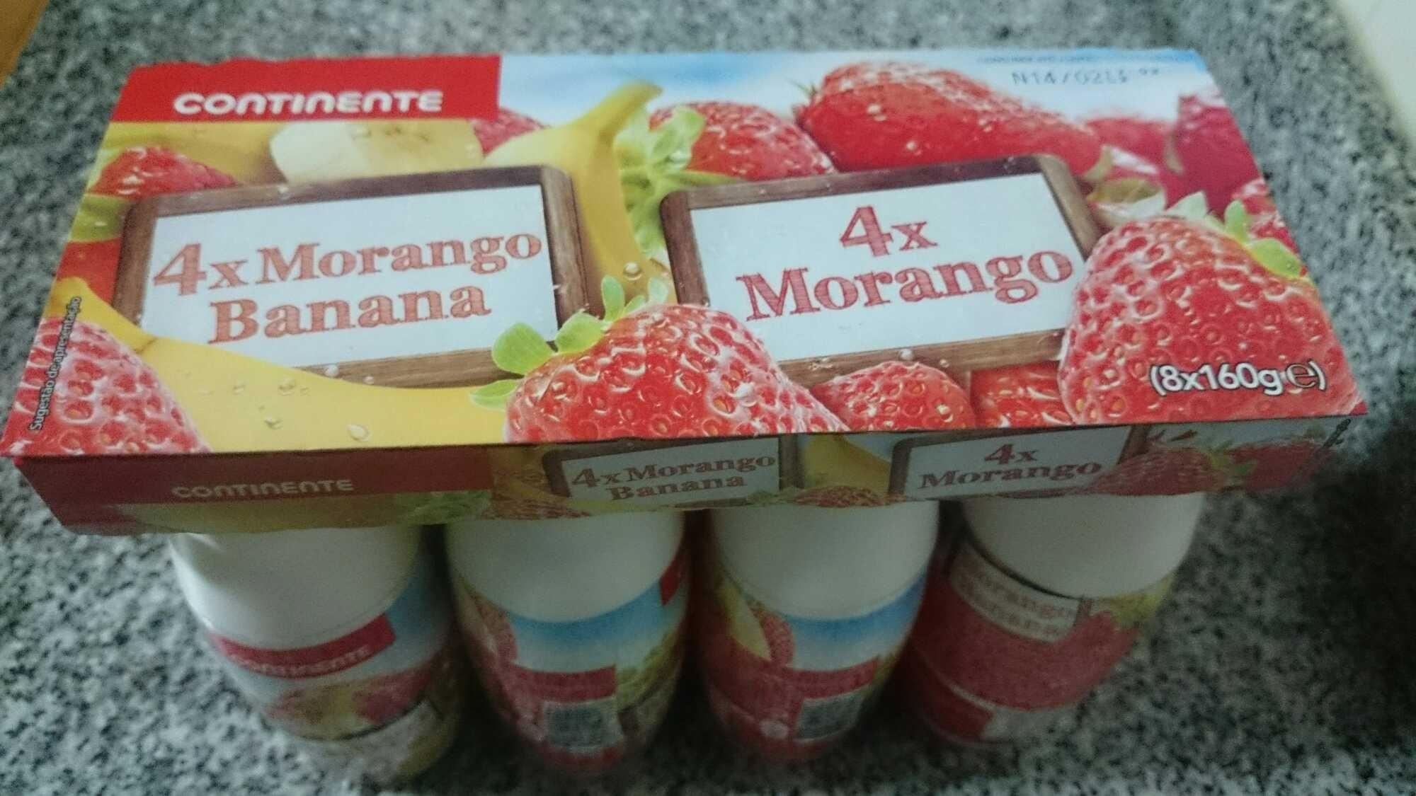 Pack iogurtes líquidos (4x Morango, 4x Morango Banana) - Product