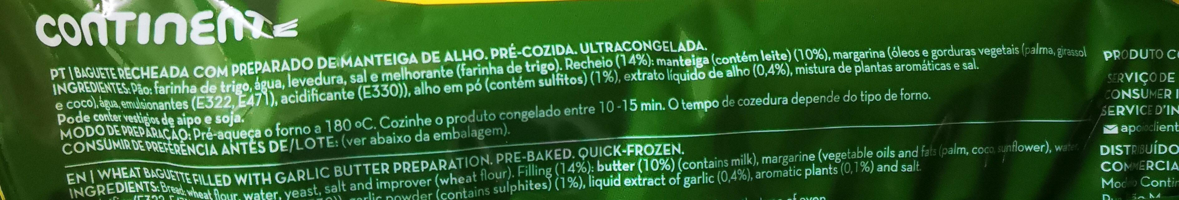 pão de alho - Ingrediënten - pt