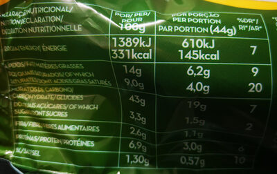 pão de alho - Voedingswaarden