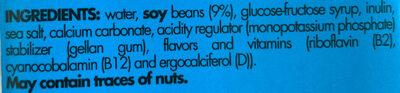 Natural Soy Milk - Ingrediënten - en