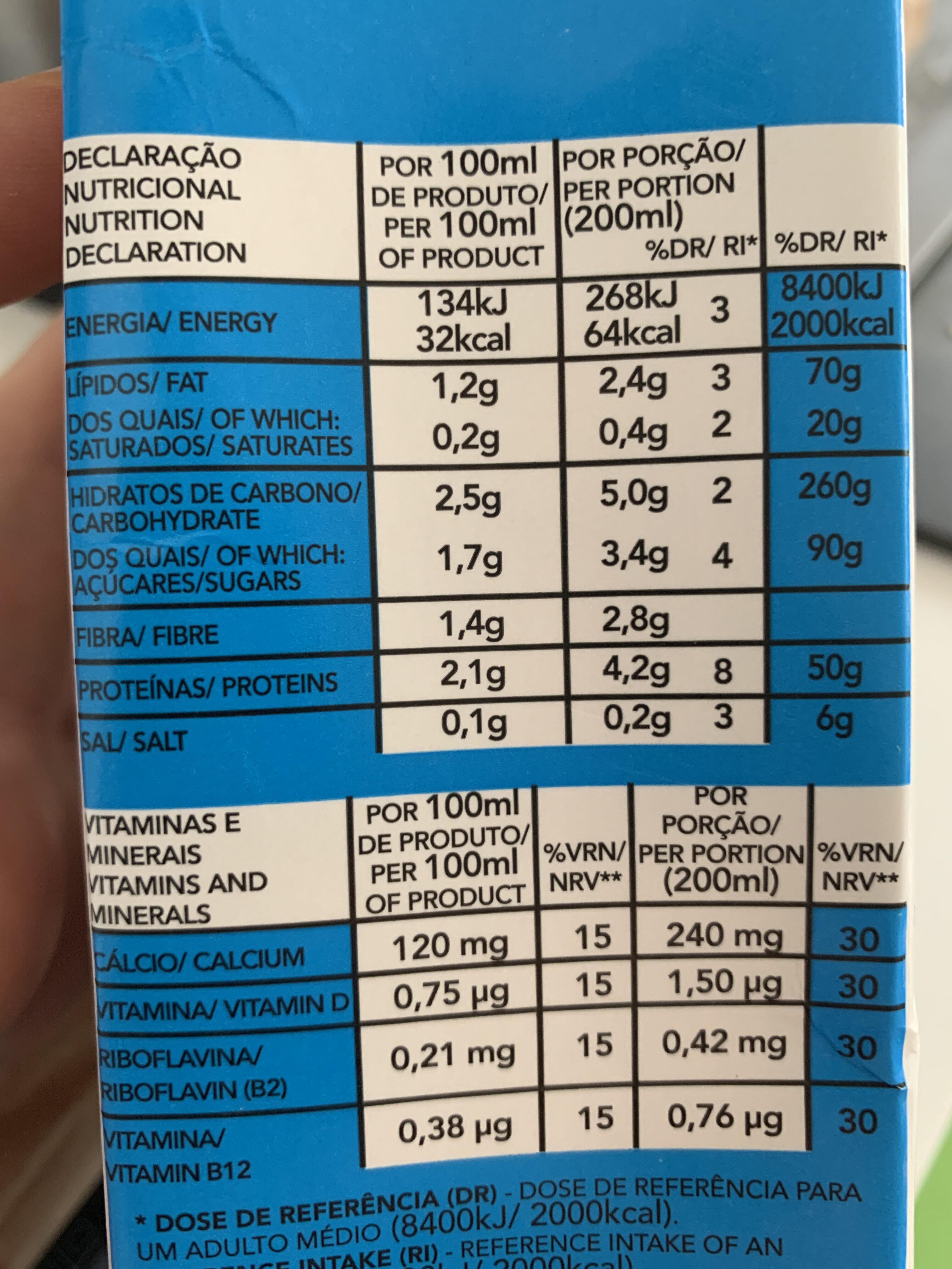 Natural Soy Milk - Voedingswaarden - en