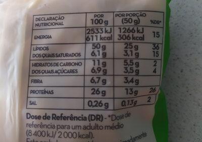 Miolo de Amendoim - Voedingswaarden - pt