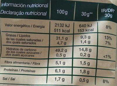 Mediterráneas 100% feitas em azeite (Pack Económica) - Informação nutricional - pt