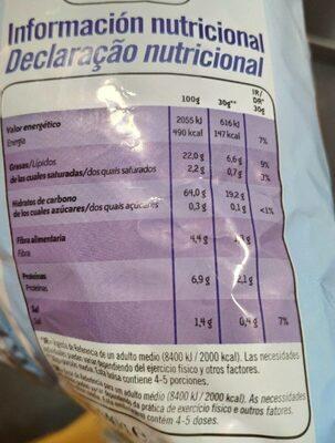 Patatas fritas al punto de sal light sin gluten - Informació nutricional