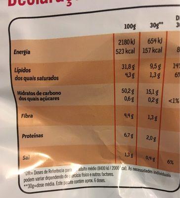 Originais - Informação nutricional - pt