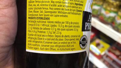 Olives Noires Entières - Informations nutritionnelles - fr