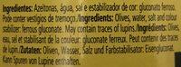 Azeitona Macarico Pta 165GR Rodelas - Ingredients - en