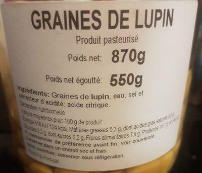 Tremoços - Ingredients - fr