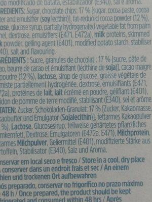 Micau Mousse Chocolat Pepites 145G - Ingrédients - fr