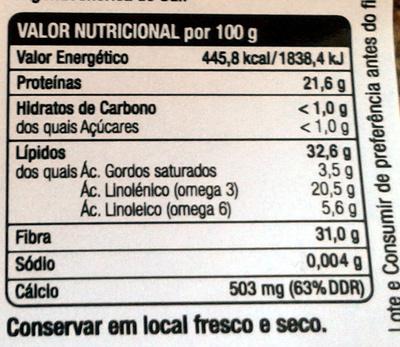 Graines de chia - Voedingswaarden - pt