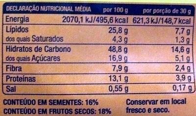 Granola superior - Informations nutritionnelles