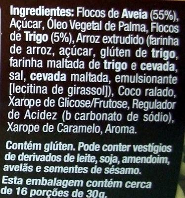 Multi Cereais Crocante - Ingredientes - pt