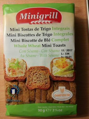 Mini biscottes de trigo integrales - Product