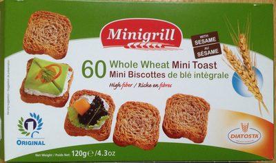 60 mini Biscottes integrales