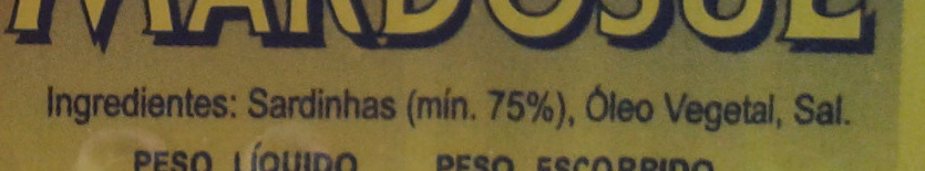 Sardines à l'huile - Ingredients