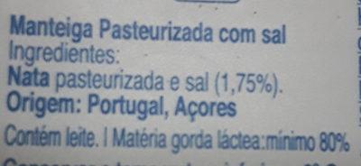 Manteiga - Ingrediënten