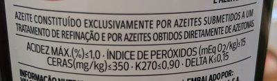 Azeite - Ingrédients - fr